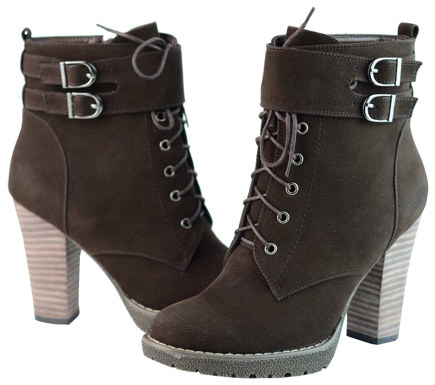 Ann Creek Women's 'Breve' Stacked Heel Lace-up Ankle Boots